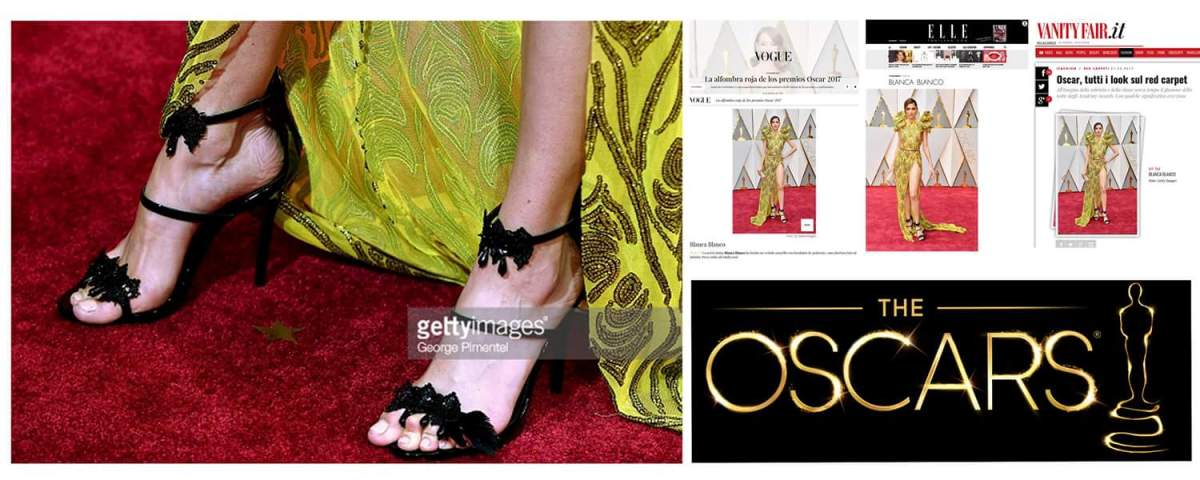 When the dream comes true...Kilame shoes at The Oscars 2017 with actress Blanca Blanco